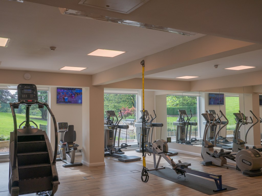 The gym at Culloden Estate and spa