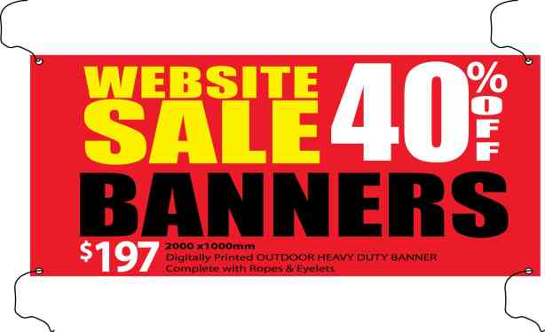 Gold Coast Banner and sign sale