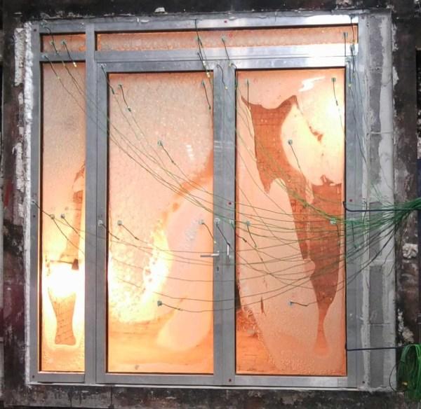 vidro resistente ao fogo