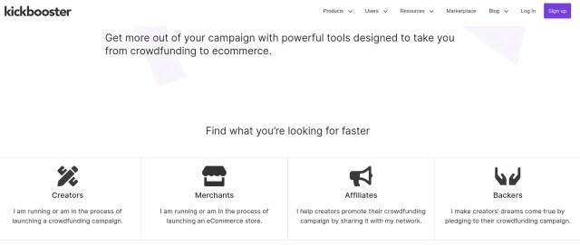 Kickbooster crowdfunding affiliates