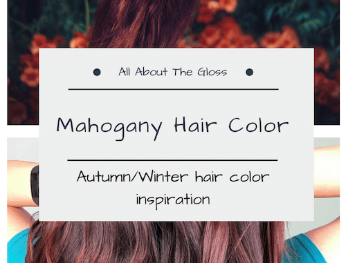 Mahogany Hair Color Guide All About The Gloss