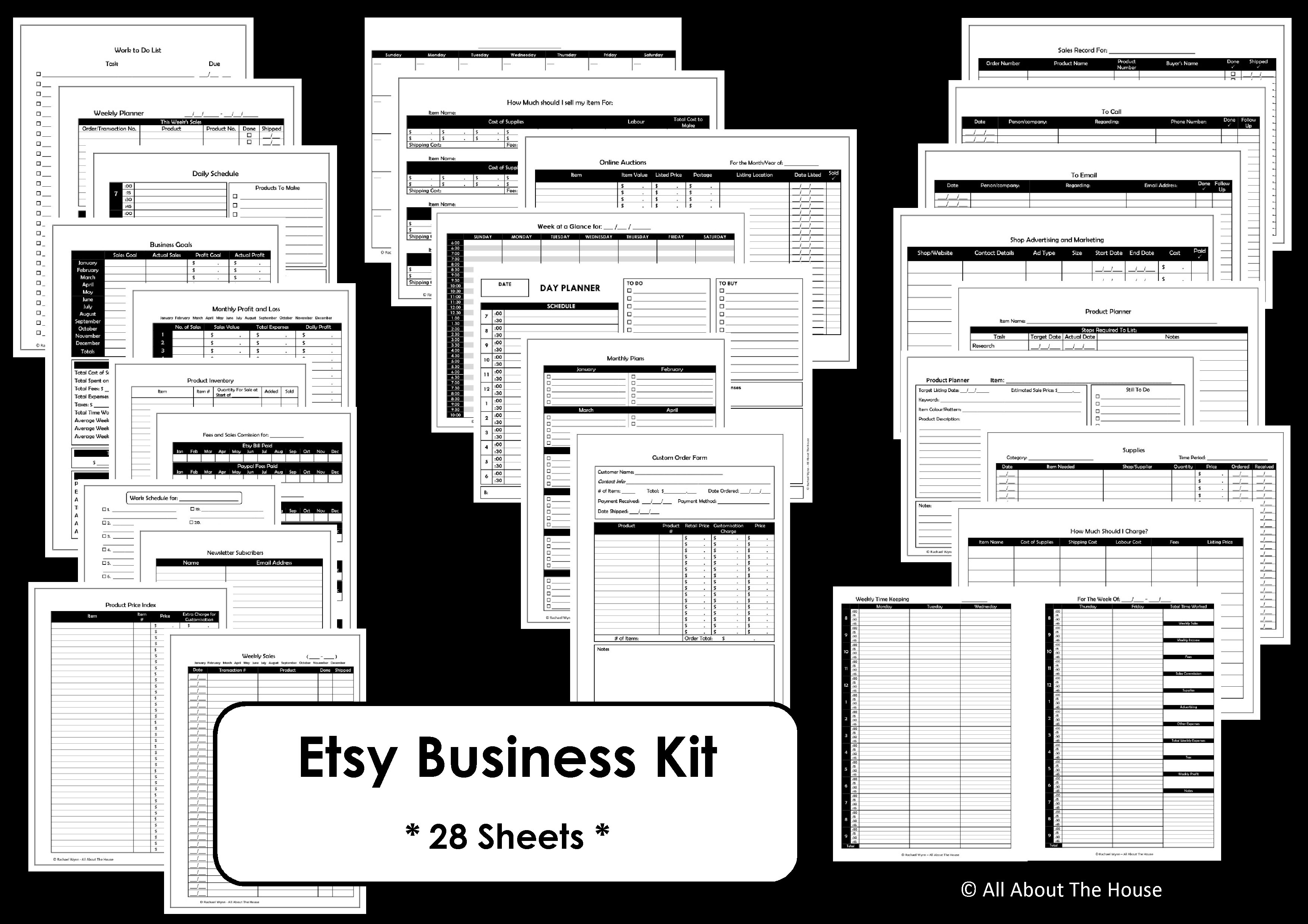 Business Planner Printables Simple Planner Series