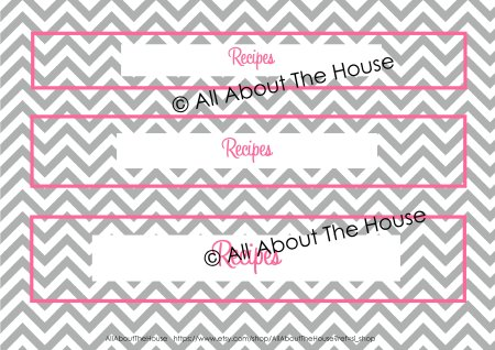 Spine - Grey Chevron and Pink Font