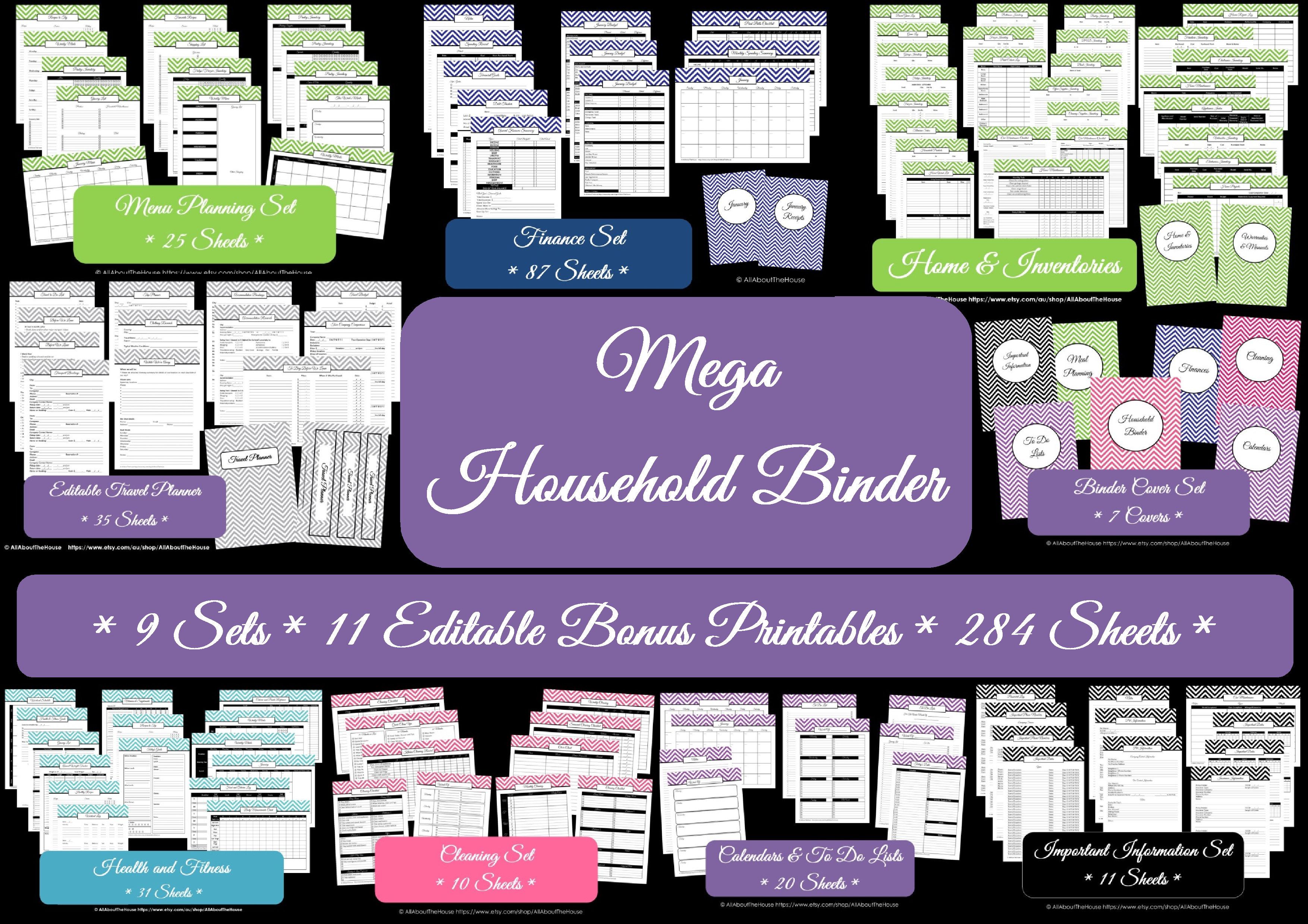 Mega Household Binder - AllAboutTheHouse