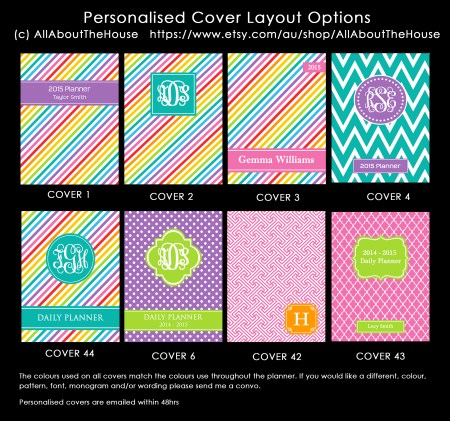 Planner Cover Options - Rainbow