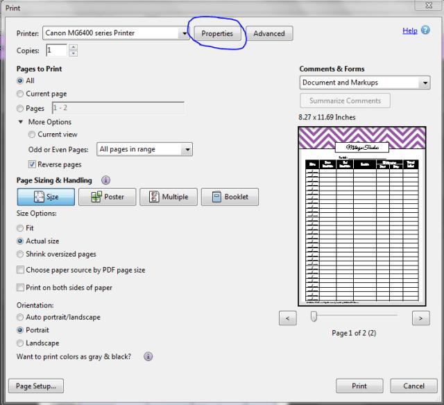 borderless printing step 2