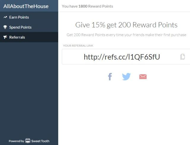 allaboutthehouse referral rewards points program