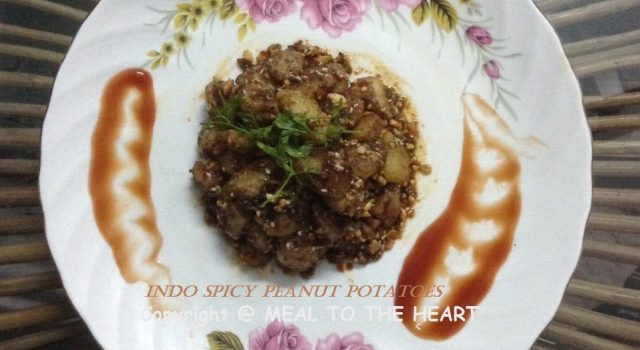 INDO SPICY PEANUT POTATOES RECIPE