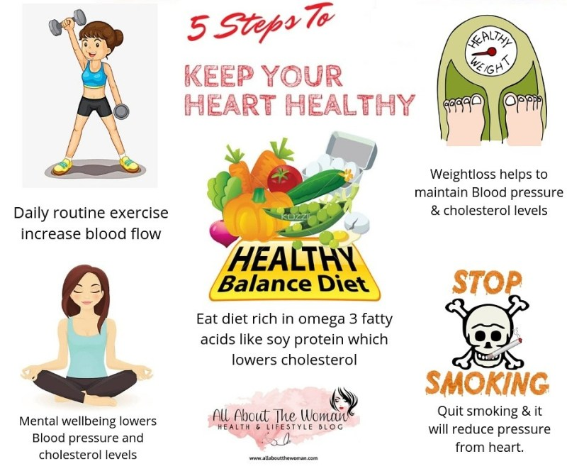 5 Steps to Keep your heart healthy