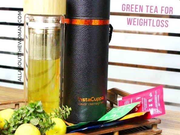 Instacuppa Green Tea Detox Bottle to Brew Perfect Cup for Weightloss