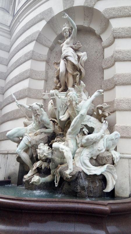 The Hofburg - wall fountain