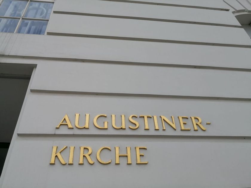 Augustinian Church - the entrance sign