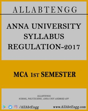 MCA Reg-17 First Semester