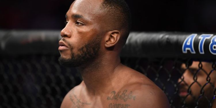 Leon Edwards in the octagon