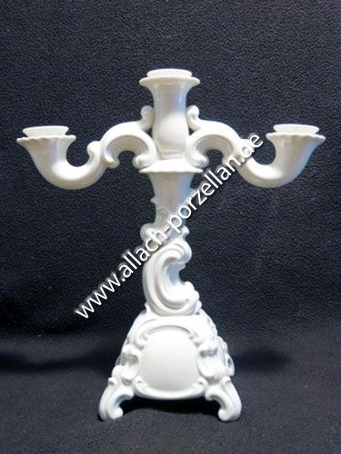 21a Baroque candle holder, 3 candles