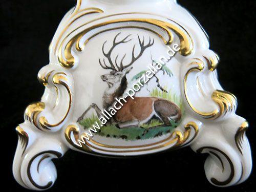 21a Barock Leuchter mit Jagdmotiven, 5 kerzig - Ansicht vorderseite