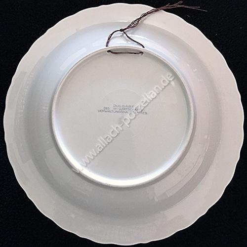 Yule plate 1941 back