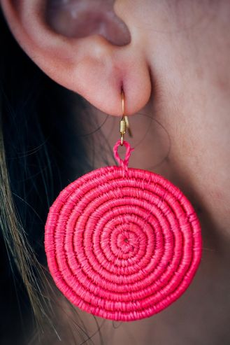 Sisal Woven Earrings from All Across Africa's very own artisans.