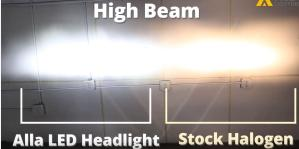 2015 2016 2017 2018 Ford Edge High Beam LED Headlights Bulb Installation VS Halogen