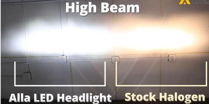 2015 2016 2017 2018 Ford Edge High Beam LED Headlights Bulb Installation VS Halogen