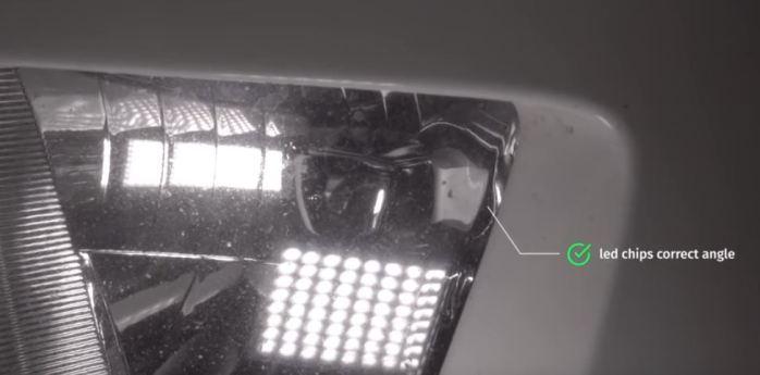 Chevy Camaro LED Headlights Bulb Step Beam Pattern Direction