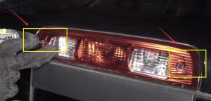 Dodge Ram 1500 3rd Brake Light Center High Mounted Stop Bulbs Install Replace Removal