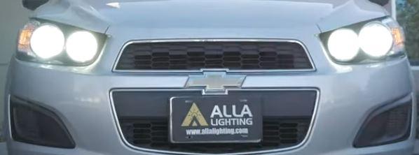 2013 Chevy Sonic High Beam LED Upgrade 11