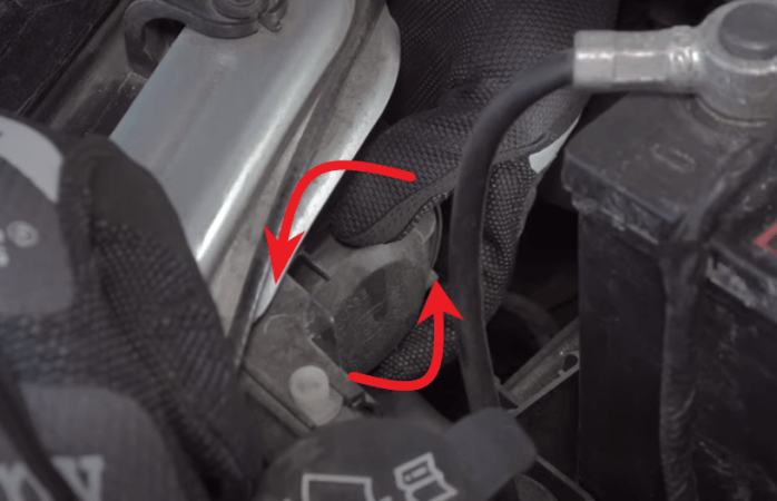 twist dust cap counter clockwise in 2012 - 2019 Chevy Sonic to remove