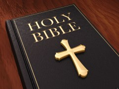 CP9P6T Golden cross and black leather bible