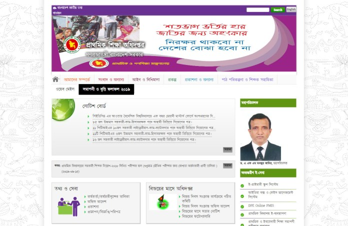 Primary Education Board DPE Result 2020