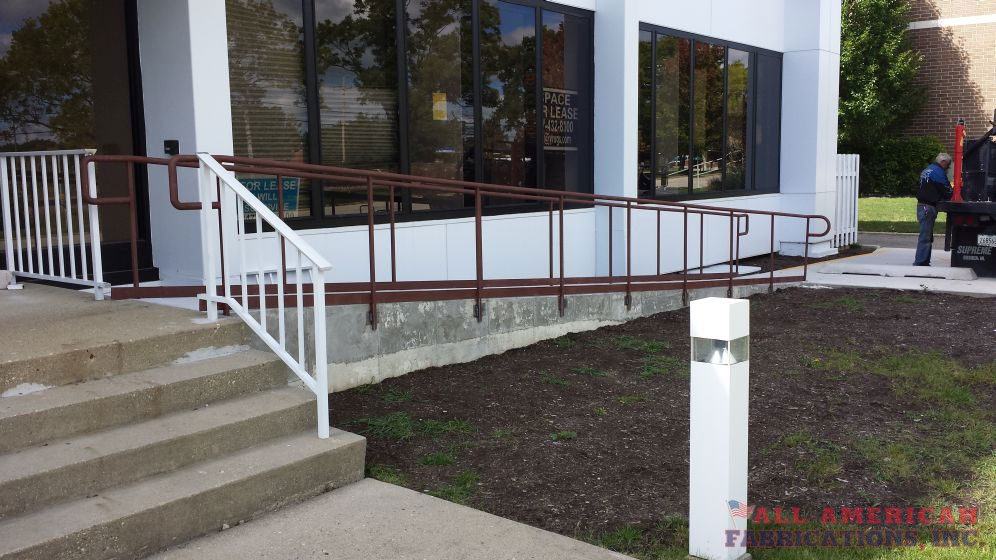 Commercial Ada Compliant Railings All American Fabrications Inc   Handicap Handrails For Stairs   Grab Bars   Deck Railing   Stainless Steel   Ada Compliant   Wheelchair Ramp