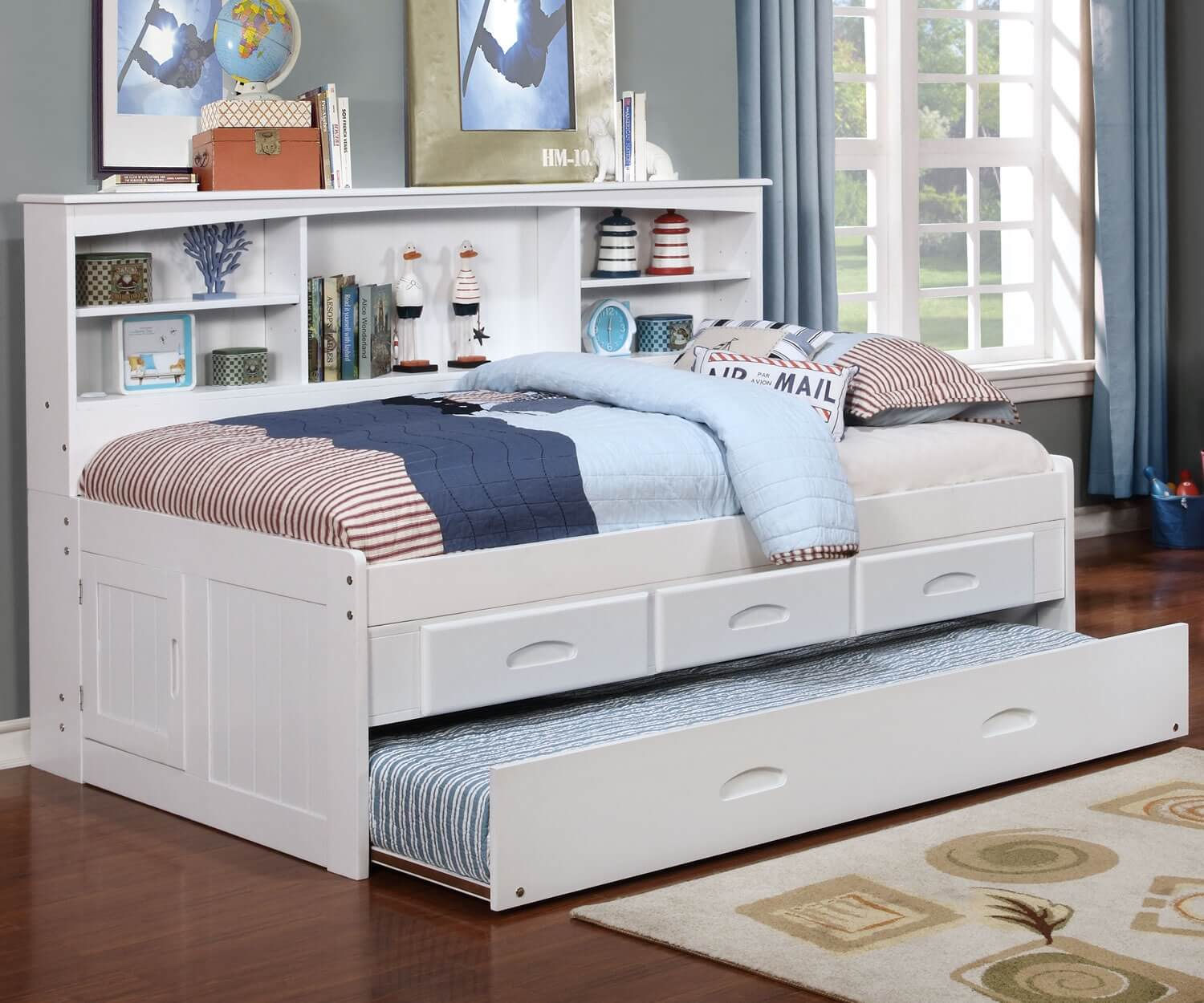 White Twin Bookcase Daybed