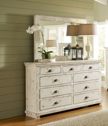 Willow Distressed White Bedroom All American Furniture