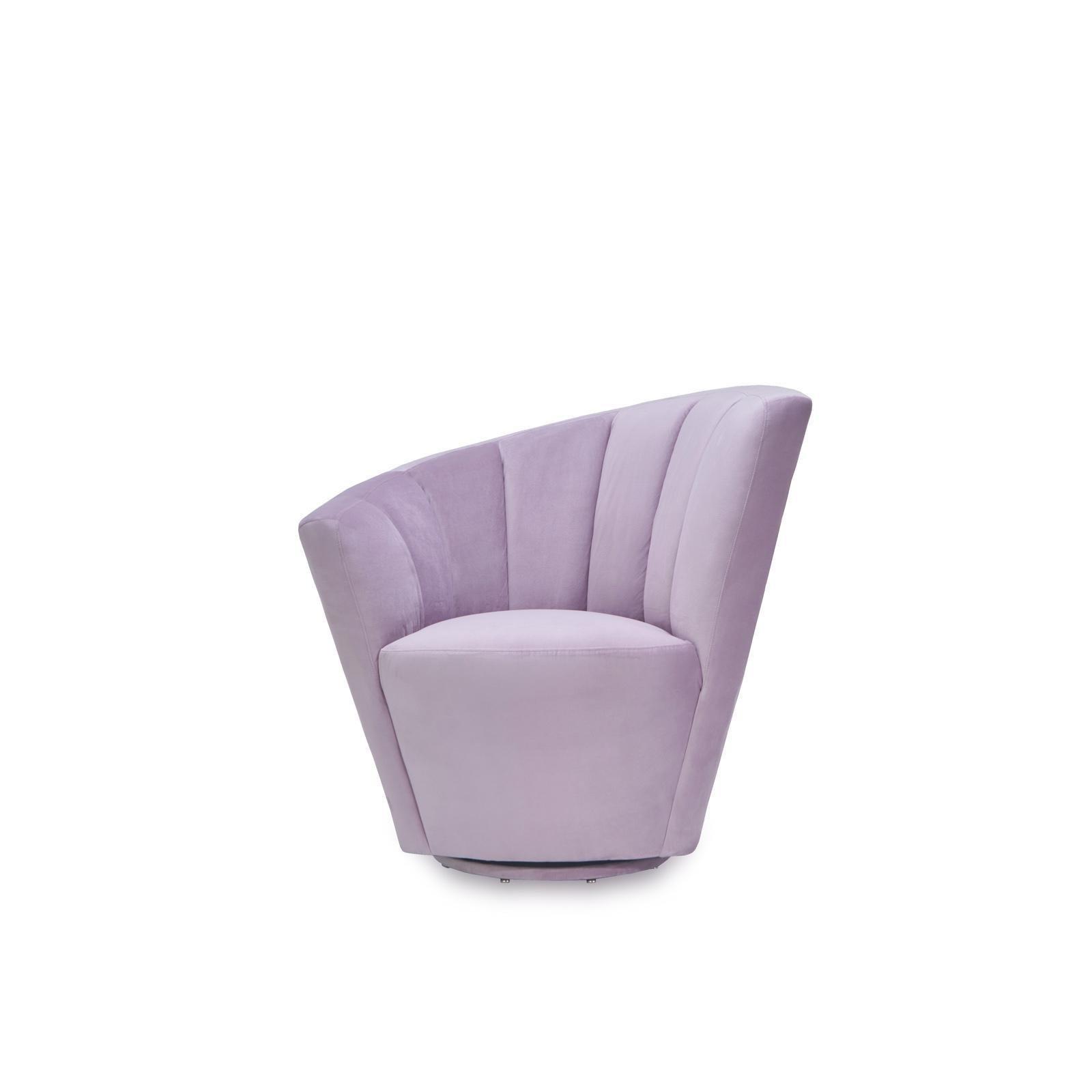 Tulip Light Purple Raf Accent Chair Allamoda Modern Furniture