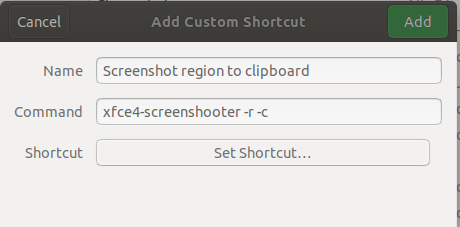 Screenshot region to clipboard