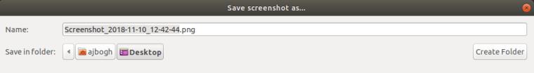 Screenshot Save to Desktop