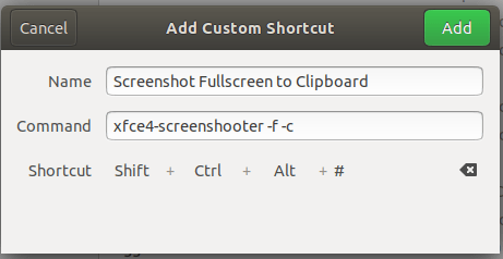 Screenshot fullscreen to clipboard