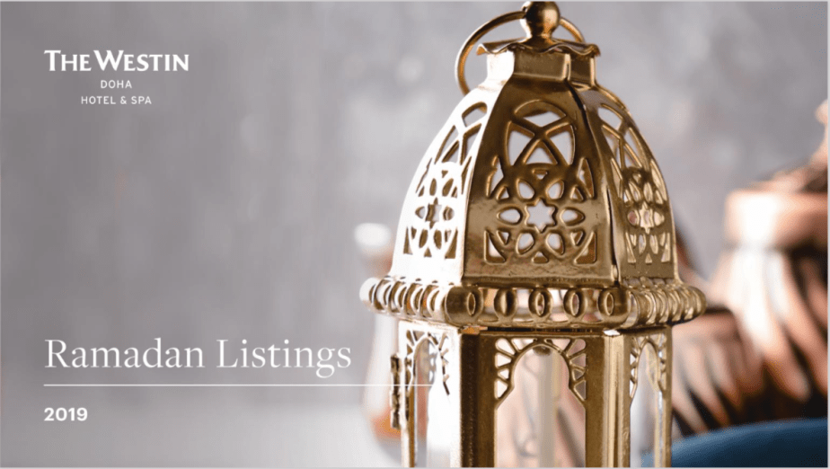 Westin Ramadan Listing 2019 | All & About | Your lifestyle guide in