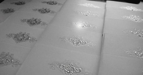 Beautiful silver foil detail