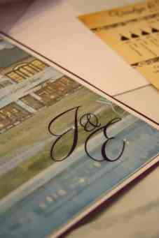 Foil detail on transparent paper