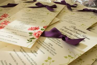 Romantic floral stationery with a touch of purple