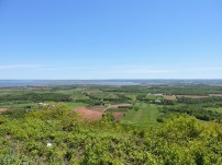 From the Look Off you can see four counties, the farms, orchards and vineyards of the Valley and the Minas Basin. (Allan Lynch Photo)