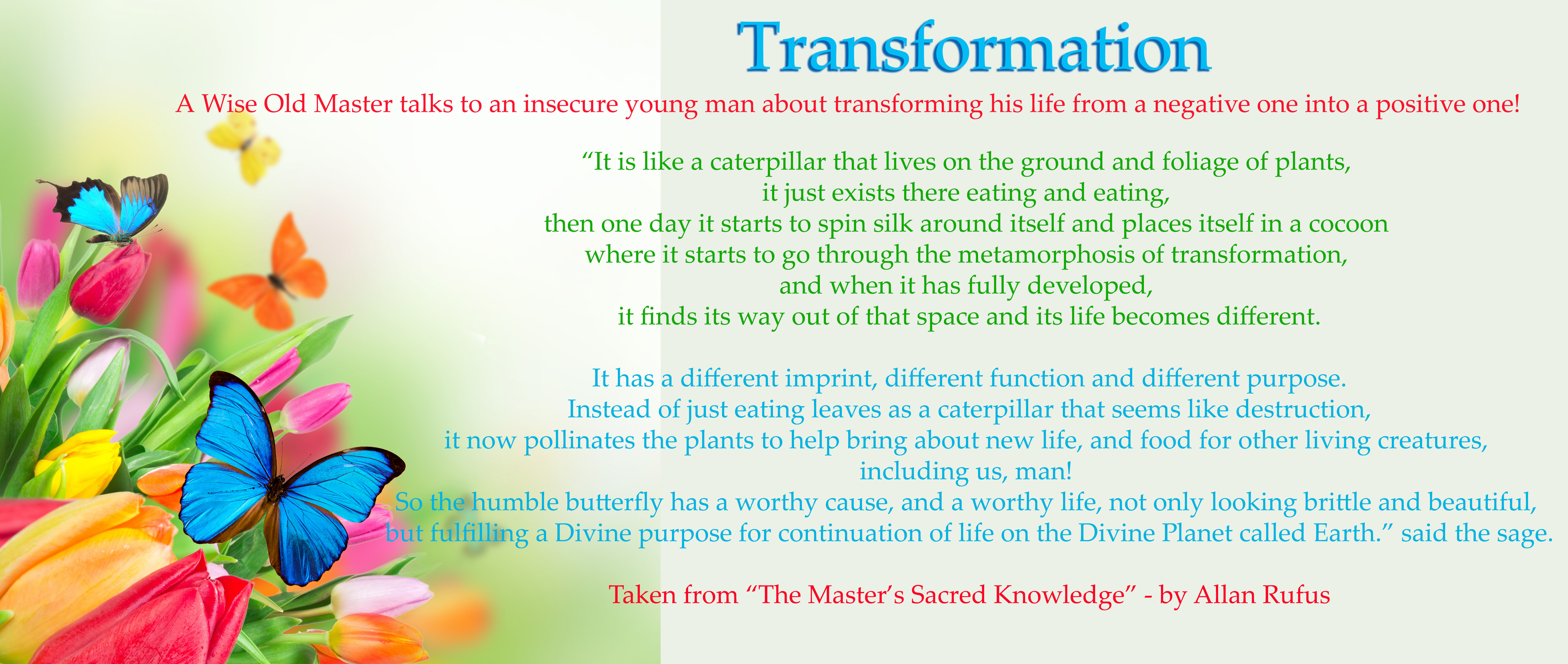 Transformation And Complete Metamorphosis Of Self