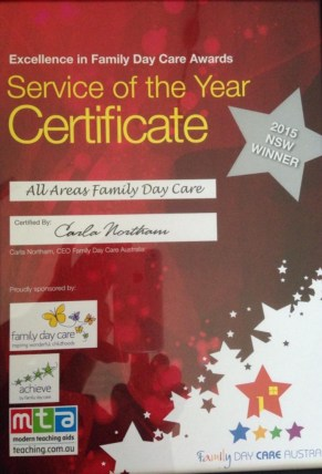 AAFDC Excellence in Family Day Care