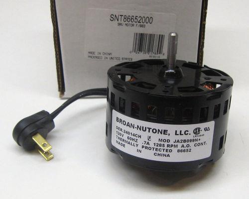 86652000 broan nutone replacement motor