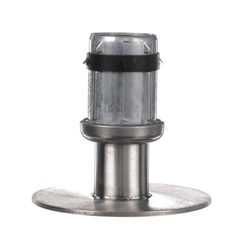 """1-5/8"""" Round Stainless Steel Clad Zinc Die Cast Adjustable Flanged Foot Insert"""