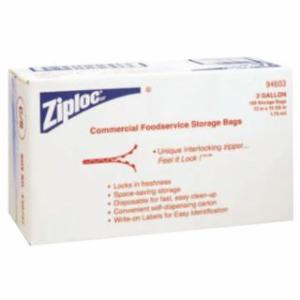 395-94603 Ziploc Commercial Reslable Bags, 2-Gallon, Plaic