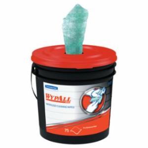 412-91371CT WypAll Wateess Hand Wipes, Cloth, 10 1/2 x 12 1/4, 75/Bucket