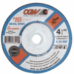 421-35610 Depressed Center Wheel, 4 in Dia, 1/4 in Thick, 24 Grit, Alum. Oxide