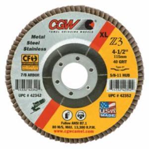 """421-42342 Premium Z3 XL T27 Flap Disc, 4 1/2"""", 40 Grit, 7/8 Arbor, 13,300 rpm"""